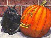 Wicked Kitty Metal Prints - Inside Joke Metal Print by Catherine G McElroy
