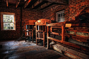 Grist Mill Posters - Inside Kerr Mill I - North Carolina Poster by Dan Carmichael