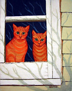 Gumbo Paintings - Inside Looking Out by Rebecca Korpita