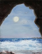 Cave Pastels Prints - Inside Looking Out Print by Trish Bilich