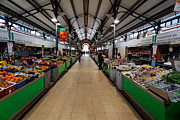 Nigel Hamer Metal Prints - Inside Loule Market Metal Print by Nigel Hamer
