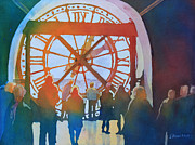 Museum Orsay Clock Posters - Inside Paris Time Poster by Jenny Armitage