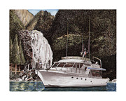 Cruising Paintings - Inside Passage Anchorage by Jack Pumphrey