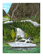 Marine Art Prints - Inside Passage time out Print by Jack Pumphrey