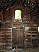 Old Cabins Posters - Inside The Barn Poster by Robert Margetts