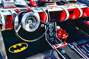 Custom Ford Metal Prints - Inside the Batmobile Metal Print by Paul Ward