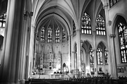 Denver Framed Prints - Inside The Cathedral Basilica of the Immaculate Conception 1 BW Framed Print by Angelina Vick