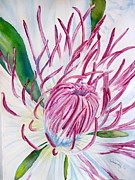 Otherworldly Painting Prints - Inside the Clematis Print by Joann Perry