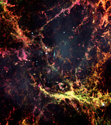 Telescope Images Posters - Inside the Crab Nebula  Poster by The  Vault