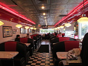 Charlotte Metal Prints - Inside The Diner Metal Print by Randall Weidner