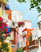 Puerto Rico Painting Posters - Inside the Gate Poster by Monica Linville