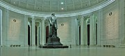 Thomas Jefferson Photo Framed Prints - Inside The Jefferson Memorial Framed Print by Metro DC Photography