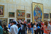 Evening Scenes Photos - Inside The Louvre 1 by Allen Beatty