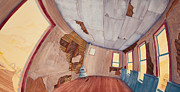 Great Plains Painting Posters - Inside The Old School House III Poster by Scott Kirby