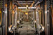Steel Photos - Inside winery by Elena Elisseeva