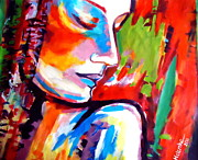 Abstract Art On Canvas Paintings - Insight by Helena Wierzbicki