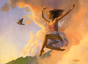 Cloud Painting Prints - Inspiration Print by Douglas Girard