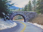 Blue Ridge Parkway Paintings - Inspiration by Janet Wimmer