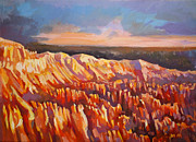 Point Park Painting Posters - Inspiration Point - Bryce Canyon Poster by Filip Mihail