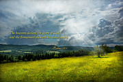 Inspirational - Eternal Hope - Psalms 19-1 Print by Mike Savad