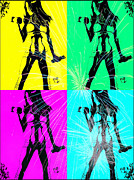 Pen And Ink Drawing Digital Art Metal Prints - Inspirational Workout Pop Art 2 Metal Print by Justin Moore