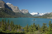 Larry Moloney Prints - Inspiring View of Glacier National Park Print by Larry Moloney