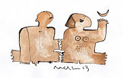 Watercolor Mixed Media Originals - Instar No.1  by Mark M  Mellon