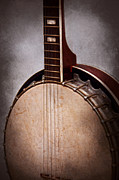 Bluegrass Prints - Instrument - String - A typical banjo  Print by Mike Savad