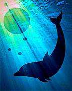 Dolphin Digital Art Framed Prints - Intellectual Light Framed Print by Eric Lewis