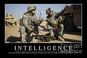 Us Army Tank Posters - Intelligence Inspirational Quote Poster by Stocktrek Images