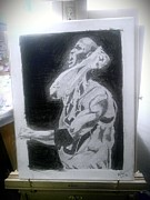 Jordan Drawings Originals - Intensity by Edward Settles