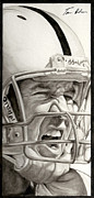 Pro Football Painting Framed Prints - Intensity Peyton Manning Framed Print by Tamir Barkan