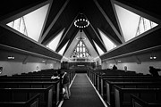 Nord Prints - Interior And Altar Of Hammerfest Church Finnmark Norway Europe Print by Joe Fox