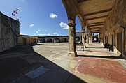 Castillo San Cristobal Posters - Interior Courtyard of Fort Cristobal Poster by George Oze