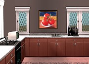 Interior Design Idea - Tomatoes Print by Anastasiya Malakhova