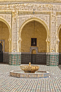 Moroccan Photos - Interior mausoleum Moulay Ismail by Patricia Hofmeester