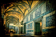 Byzantine Art - Interior Narthex by Joan Carroll