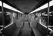 U-bahn Framed Prints - Interior of a german u-bahn train Berlin Germany Framed Print by Joe Fox