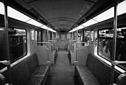 Interior Of A German U-bahn Train Berlin Germany Print by Joe Fox