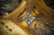Inside Of Prints - Interior of Canterbury Cathedral Print by Chevy Fleet