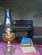 Oil Lamp Digital Art Posters - INTERIOR of GHOST TOWN RESIDENCE 3 Poster by Daniel Hagerman