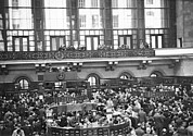 New York Stock Exchange Prints - Interior of NY Stock Exchange Print by Underwood Archives