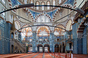 Interior Of Rustem Pasha Mosque Print by Rob Van Esch