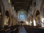 Parish Church Framed Prints - Interior of St Marys Church in Rye Framed Print by Louise Heusinkveld