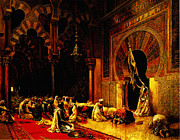 Delacroix Prints - Interior Of The Mosque At Cordoba Print by MotionAge Art and Design - Ahmet Asar