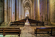 Dreamlike Framed Prints - Interior of the Mosterio da Batalha Framed Print by David Letts