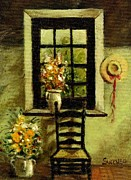 Interior Still Life Painting Metal Prints - Interior Setting Metal Print by Robert Sankner