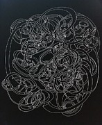Pen And Ink Drawing Prints - Interlaced Circles Print by Nancy Kane Chapman