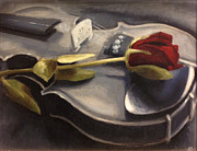 Violins Paintings - Interlude by Alison Schmidt Carson