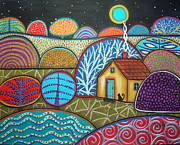 Folk Art  Paintings - Interlude by Karla Gerard